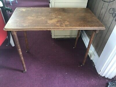 Vintage Antique Belding Bros &Co. Sewing Wood Folding Table