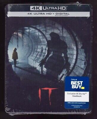 It Chapter 1 One 2017 Best Buy Steelbook (4K Ultra Hd + Digital)Brand New Sealed