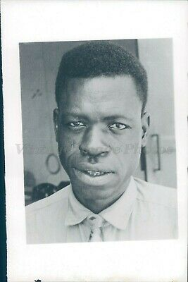 1963 Photo Sinji Congo Factory Manager Black African American Smiling