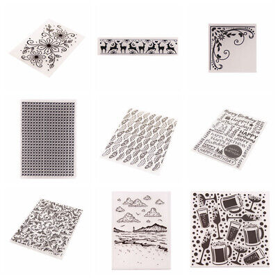 Xmas Flower Lace Silicone Rubber Stamps Seal Embossing Folder Scrapbooking DA