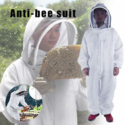 Full Body Thick Safety Anti-bee Suit Coat Professional Protctive Beekeeping Suit