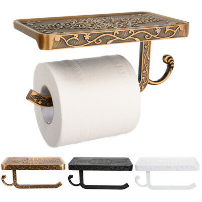 Wall Mounted Bathroom Toilet Paper Holder Rack Tissue Roll Stand Home Decor