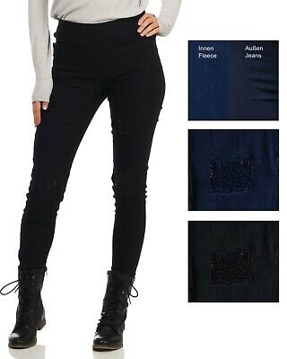 SKINNY JEANS DAMEN - Thermo- Jeanshose mit Stretch - JEGGINGS - SLIM FIT JEANS