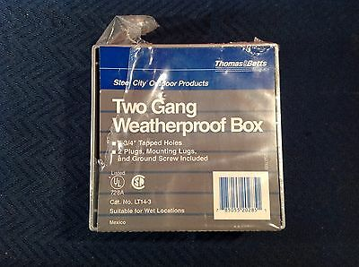 Thomas & Betts Steel City Two Gang Weather LT14-3