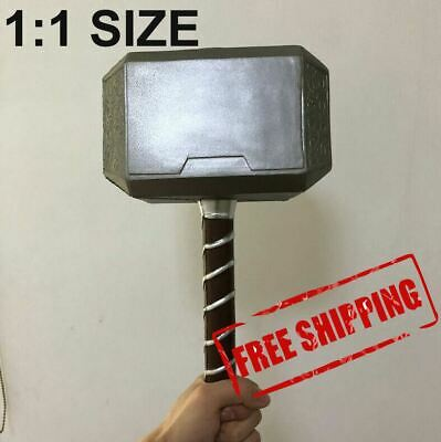 Mjolnir Thor`s 1:1 Replica Hammer Cosplay Avengers Endgame Movie Marvel Copy Toy