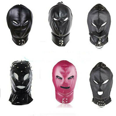 Slave Head Hood Mask Full Face Mask Headgear Restraints Bondage Roleplay Toys SM