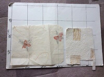 Oddments Handmade beige rag style paper for cards , embroidery arts crafts