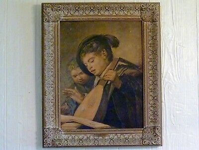Var.2 Wall decor. Eros and Psyche in Baroque//Rococo frame
