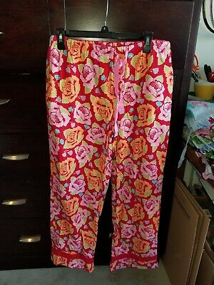 "Nick and Nora ""Mexican Roses"" PJ Bottoms - SZ. M"