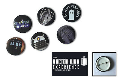 Doctor Who Rare Set Of Cardiff Doctor Who Experience Buttons Pin Badges!