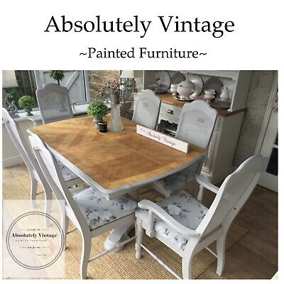 French Extending Dining Table and 6 Chairs~Farrow & Ball~Painted~Shabby Chic ~