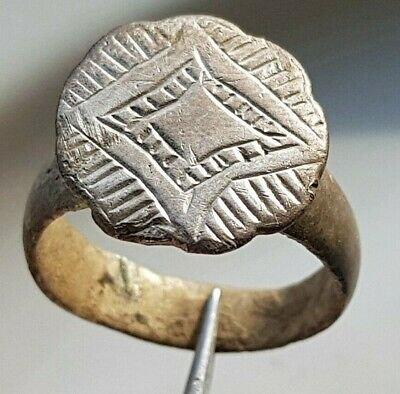 Large Silver Ancient Roman Ring