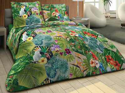 Housse de couette 220x240 + 2 taies Pur coton 57 fils JUNGLE