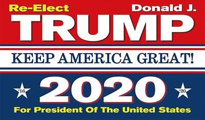 Donald Trump re-elected President 2020 Keep America Great Flag MAGA Banner 3X5