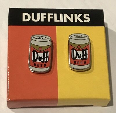 Simpsons Duff Beer Cufflinks Rare Collectable Cool NEW