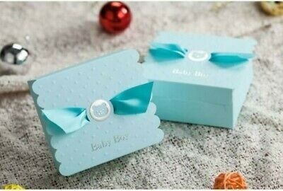 Blue Baby Boy Baby Shower Christening Favour Chocolate Sweets Treat Souvenir Box