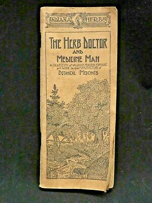 "1922 Indiana Herbs ""The Herb Doctor and Medicine Man"" Catalog Booklet"