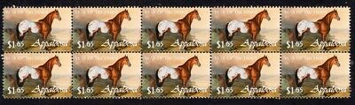 Appaloosa Year Of The Horse Strip Of 10 Mint Vignette Stamps 4
