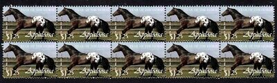 Appaloosa Year Of The Horse Strip Of 10 Mint Vignette Stamps 2