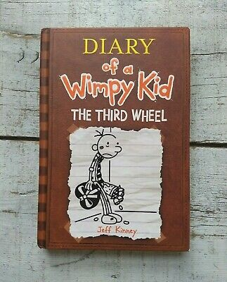 Signed Jeff Kinney Diary of a Wimpy Kid The Third Wheel Hardcover Book Autograph