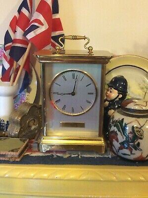 """VINTAGE RAPPORT LONDON GIANT CARRIAGE CLOCK-2.5Kg OF SOLID BRASS ! 8.5"""" X 6.5"""""""