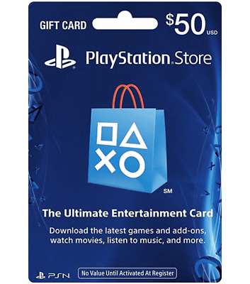 PlayStation Network PSN $50 USD - PSN Store Card - PS4 PS3 USA ONLY