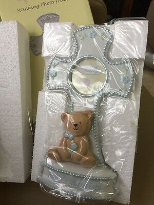 Russ Baby Small Blessings Baby Baptism Standing Photo Frame