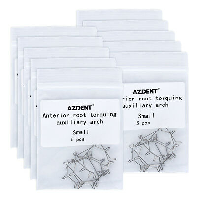 10X 5pcs/pack Dental Anterior Root Torquing Auxiliary Arch Small Size AZDENT
