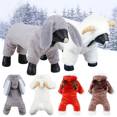Christmas Dog Clothes For Dog Pet Xmas Costume Winter Coat Puppy Outfit Legs Out