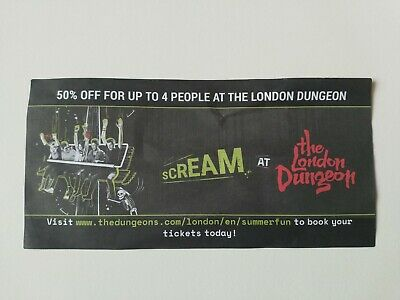 The London Dungeon 50% Off For Up To 4 People Voucher valid until end May 2020