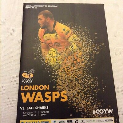 Wasps V Sale Sharks Rugby Union 1st March 2014