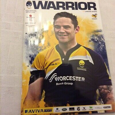 rugby union programmes Worcester Warriors V Wasps 21st March 2014