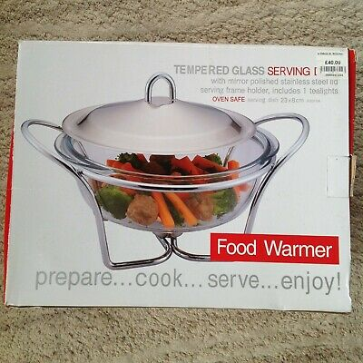 RRP £40 Pyrex Food Warmer Tempered Glass