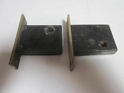 2 Antique Brass Hallway Door Deadbolt Locks
