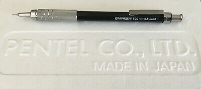 New Pentel GraphGear 500 Black 0.5mm Automatic Mechanical Pencil | Drafting