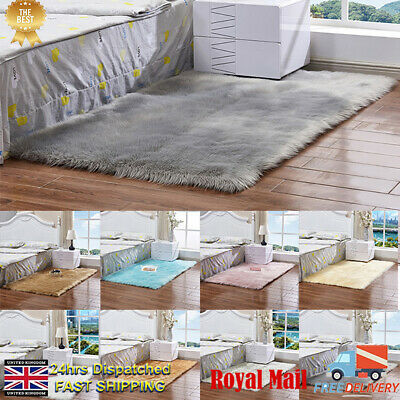 Washable Fluffy Rug Anti-Skid Shaggy Rugs Carpet Living Room Bedroom Floor Mat l