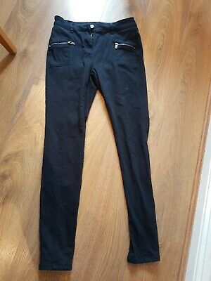 Ladies Next Skinny  Dark Navy Blue Tapered Smart Jeans Denim Trousers Size 8