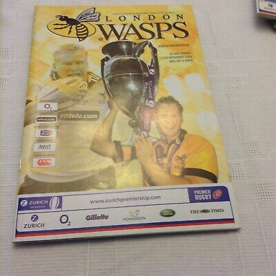 Rugby Union Wasps V Sale Sharks In Premiership 11/09/04