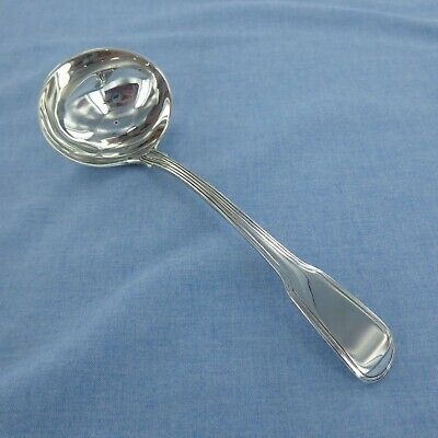 Good  Antique Sterling Silver Fiddle Thread Sauce Ladle, London  1795.