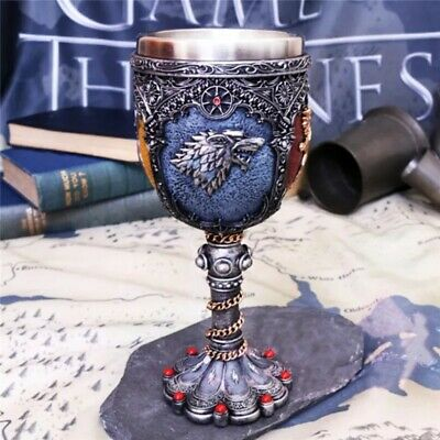 Game of Thrones Signets Coffee Cup Stainless Steel & Resin 3D Red Wine Goblet