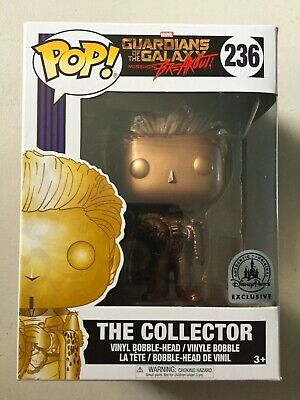 Funko Pop Disney Parks Exclusive Marvel THE COLLECTOR GOLD VARIANT Damaged Box