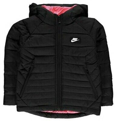 Nike Girls Padded Jacket with Hood, Zip Fastening & 2 Side Zipped Pockets rrp£95