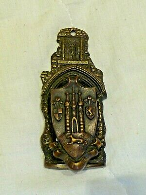 Antique Brass Door Knocker Henry De Lacy St. Pauls Cathedral City of London 1916