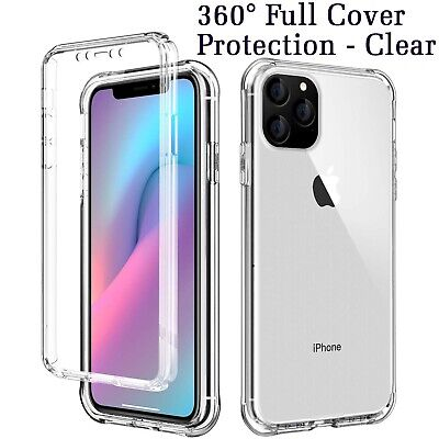 360° Protective Shock Proof Crystal Clear Soft Gel Cover For iPhone 11 Pro Max