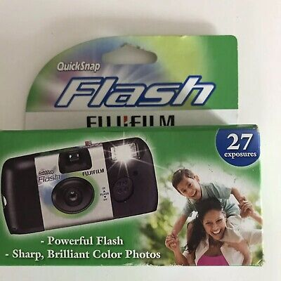 (1) Fujifilm QuickSnap Flash - 27 Pics ea. 35mm One Time Use Exp'd: 08/2019