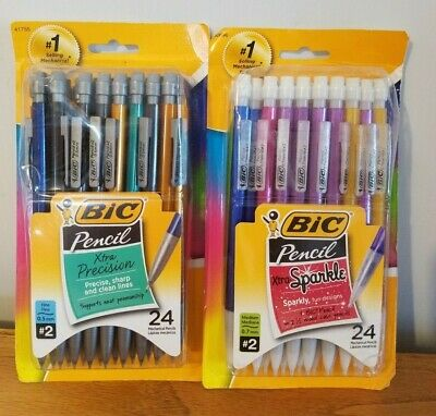 BIC Xtra-Precision Mechanical Pencil  2 packs, SPARKLE  0.5mm 24-Count