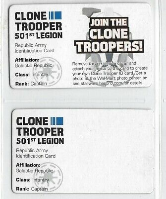 Star Wars Clone Troopers 501st Legion ID badge card WAL-MART exclusive (2008)
