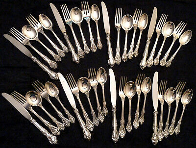 40 Pc Sterling Silver King Edward Set 8 Place Settings x 5 Pc each by Gorham