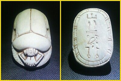 EGYPTIAN ANTIQUE ANTIQUITIES Scarab Beetle Khepri Figure Sculpture 1549-1170 BC