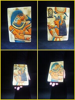 EGYPTIAN ANTIQUE ANTIQUITIES Two Different Sides Drawings Stela 1549-1297 BC